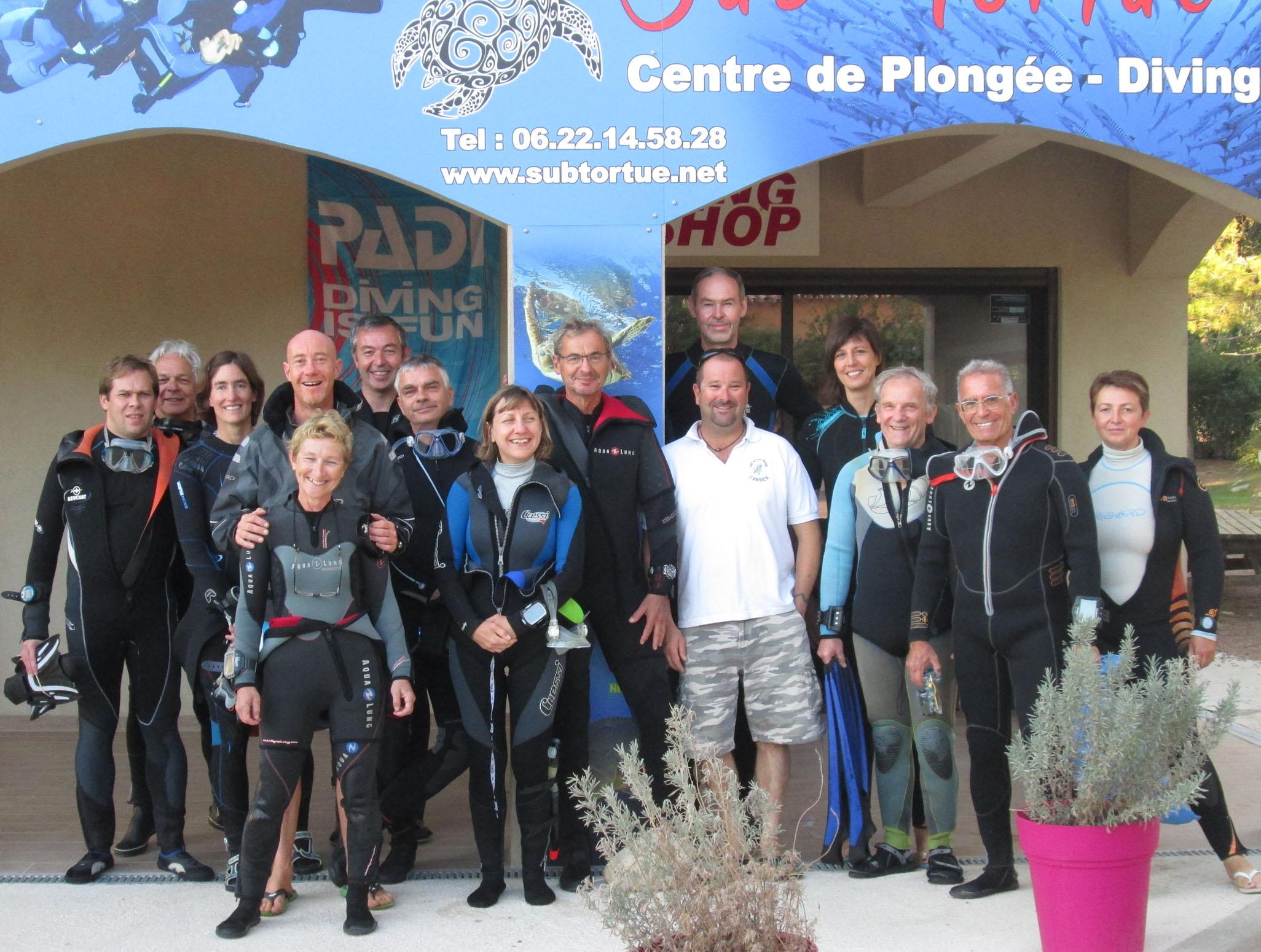 Retour de plongées en Corse